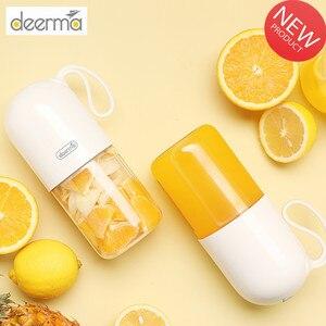 Xiaomi Deerma 300ml Portable Electric Juicer Blender Multipurpose Wireless Mini USB Rechargable Juice Cup Cut Mixer for Travel