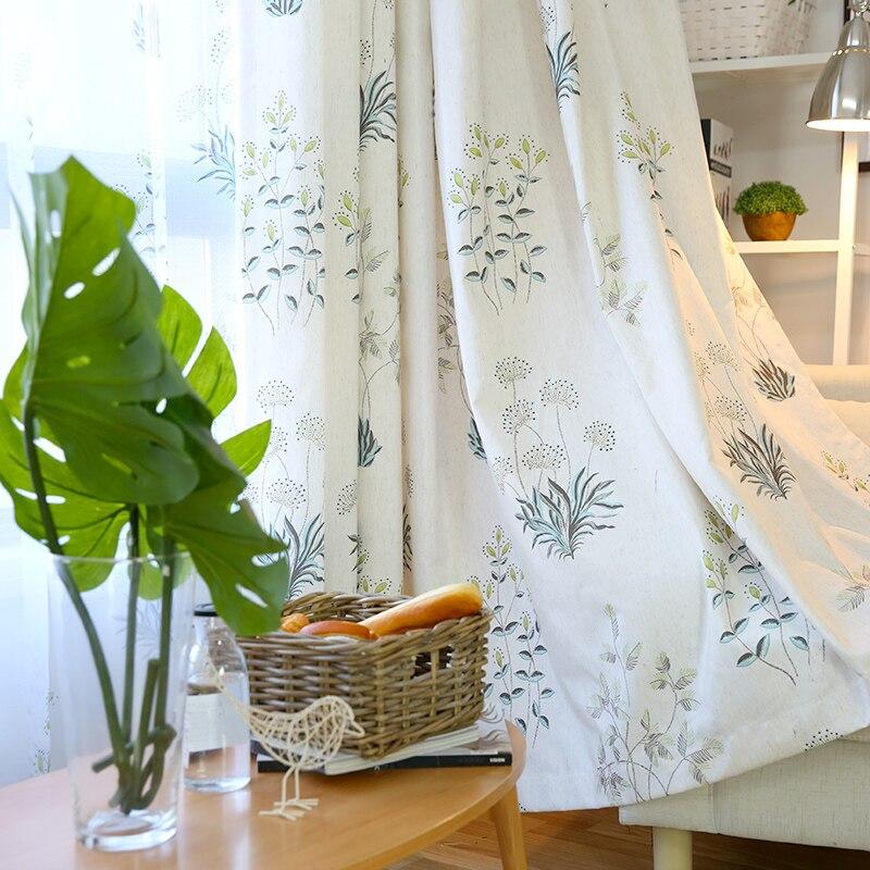 Novas cortinas para rural pequeno fresco acabado cortina de pano sala estar quarto sombra