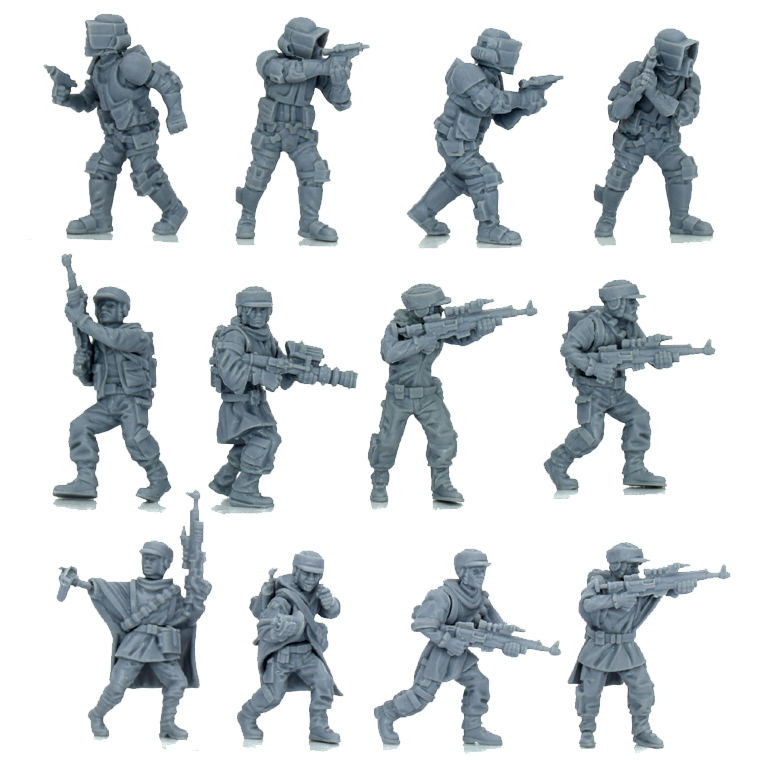 Model Kit 1/72 Wargame Star Wars Legion LFL Stormtrooper Modelling Resin Figure DIY Hobby Modelismo