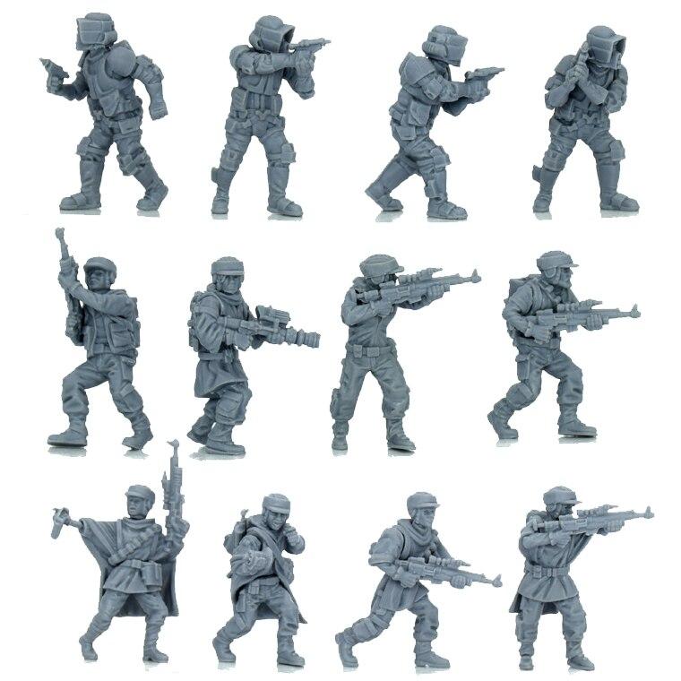 Model Kit 1/72 Wargame Star Wars Legion LFL Stormtrooper Modelling Resin Figure DIY Hobby Modelismo