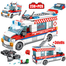 City Ice Cream Car Model Building Block for Legoingly Friends City Ambulance Truck Figures Bricks Education Toys for Children(China)