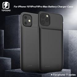 Caso de bateria para iphone 11 pro carregador de bateria para iphone 11 pro max silicone macio de carregamento externo capa traseira power bank