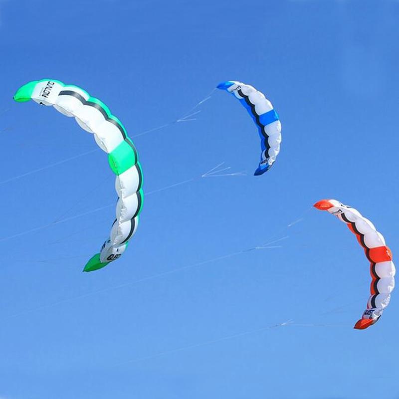 Livraison gratuite de haute qualité nouveau grand double ligne puissance cerf-volant parafoil kiteboard avec barre de commande ligne cerf-volant surf