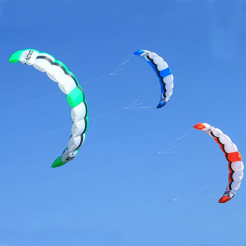 Free Shipping High Quality New Large Dual Line Power Kite Parafoil Kiteboard With Control Bar Line Kite Surfing