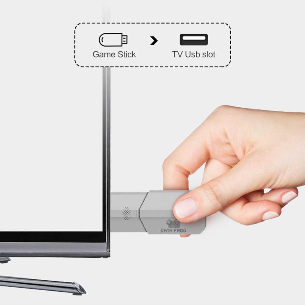 وحدة تحكم بجهاز لعب محمول الطفولة ريترو صغير كلاسيكي 4K TV AV/HDMI 8 بت 568/600 لعبة فيديو وحدة التحكم يده الألعاب لاعب هدية