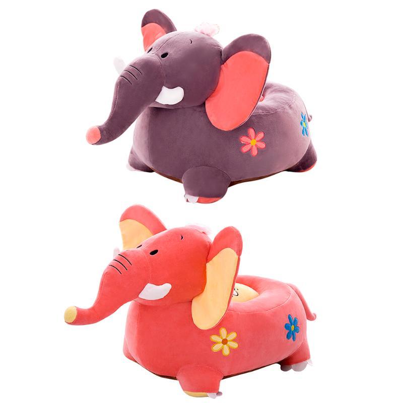1set Cartoon Animal Kids Seat Sofa Cover Baby Chair Bean Bag Coffee Giraffe Seat Plush Toy Bean Bag Seat Sofa Cover For Baby