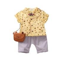 цена на Summer Children Casual Clothing Kids Tracksuit Boys Girls Cartoon T-Shirts Shorts 2Pcs/Sets Toddler Cotton Infant Clothes Suits
