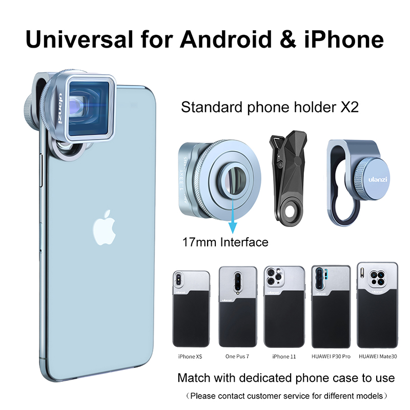 Lente anamórfica Ulanzi para iPhone 11 Pro 1.3x, pantalla ancha de vídeo, pantalla panorámica Slr, película Videomaker, lente Teléfono universal - 3