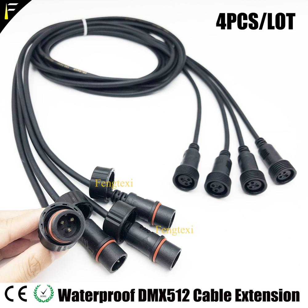 4pcs/Lot Outdoor 3m Of DMX512 Extension Cord Cable And Stage Light 3m Power Extension Cable 3m