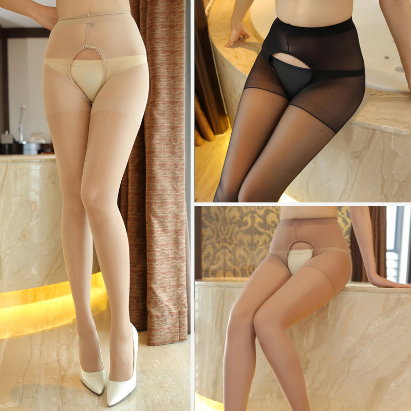 1pcs Sexy Women Tights Open Crotch Pantyhose Mesh Stockings High Quality Elastic Collant Femme Tights Crotchless Pantyhose