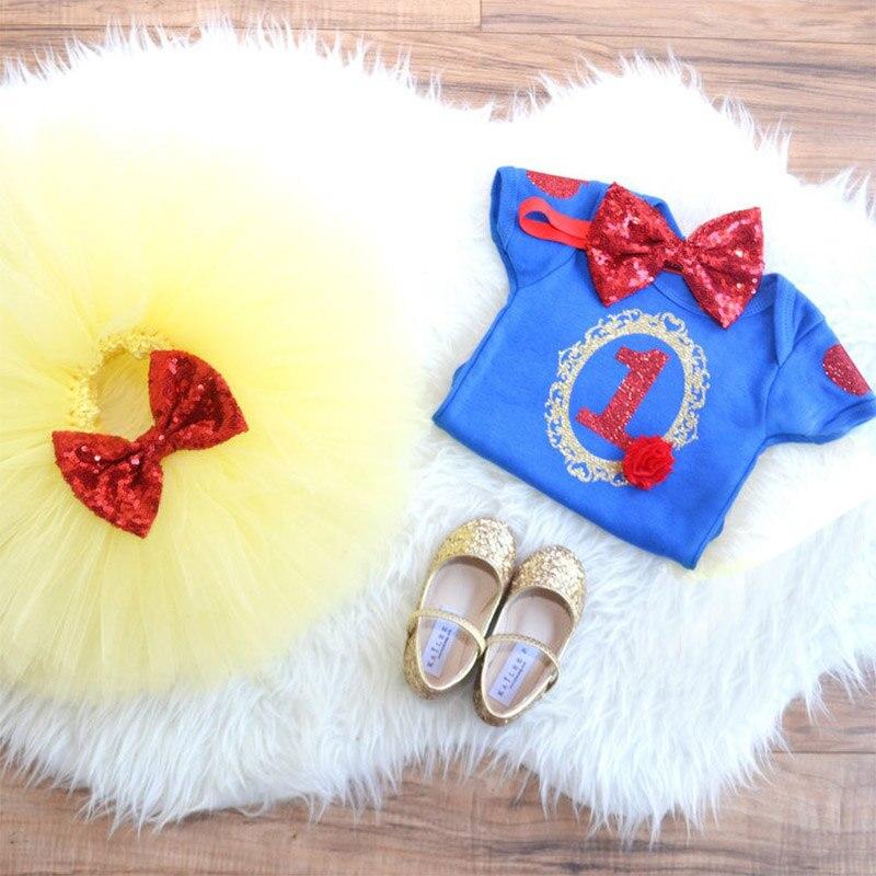 Traje de princesa, fantasia de princesa branca de neve para meninas, 1 ano de aniversário, vestido de unicórnio, festa, roupas infantis, roupas de bebê, roupas de verão, 12 meses