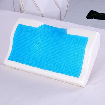 Memory Foam Gel Pillow Summer Ice-cool Anti-snore Slow Pillow Sleep Health Soft Pillow Home Care Bedding Rebound Orthopedic X7Z8