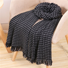 Fashion Solid Knit Scarf Women Winter Wool Pashmina Scarves for Ladies Cashmere Shawls Wraps Hijab Stoles Thick Warm Scarfs