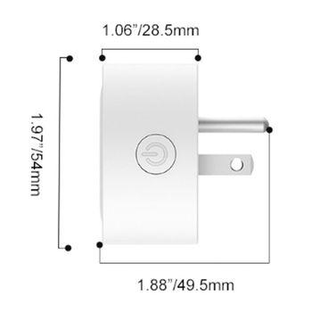 Mini Wifi Smart Plug Outlet Work with Alexa, Google Home