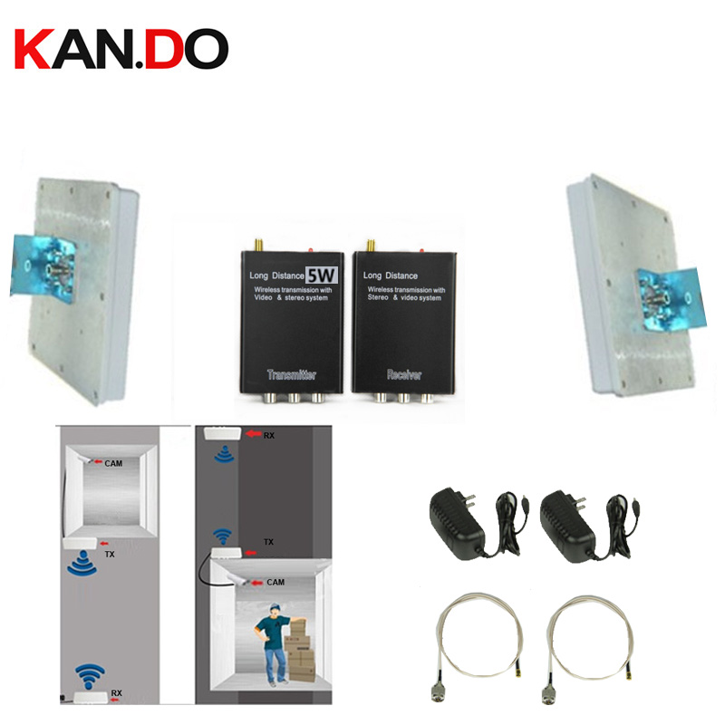 40 Floor Elevator Cctv Monitor 5W 2.4G Transceiver Amplifer Cctv 2.4G Wireless Video Audio Transmitter Receiver Cctv Transmitter