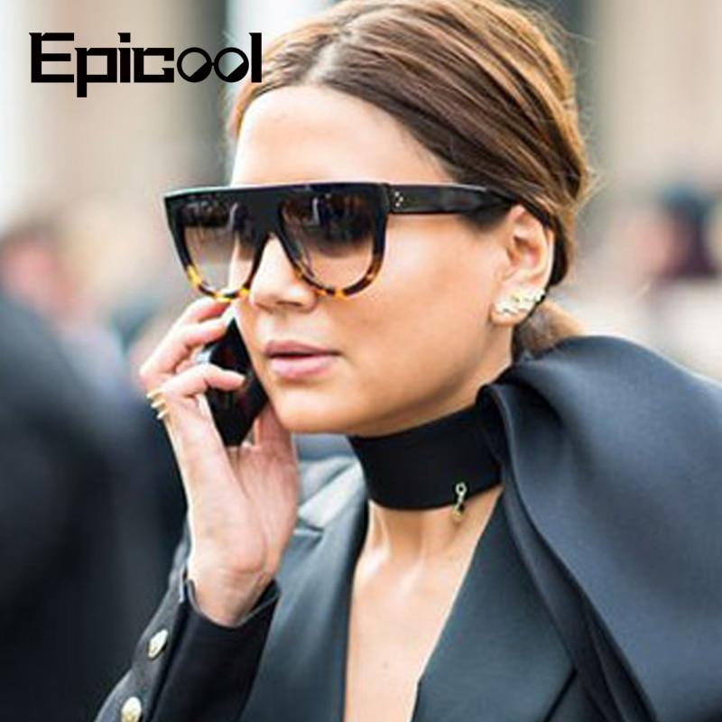 Epicool Vintage Sunglasses Women Cat Eye Plastic Frame Sun Glasses Ladies Gradient Lens Fashion Brand Design Sunglasses Oculos