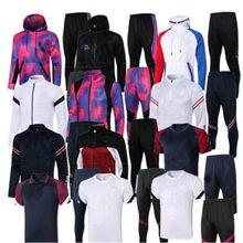 Completo zip jaqueta de moletom com capuz jaqueta com capuz suor de futebol treino de futebol terno dos homens 2020 2021 treinamento calças de