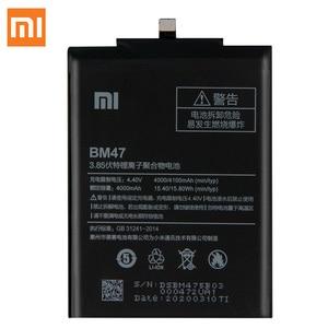 Image 2 - XiaoMi המקורי סוללה BM47 עבור Xiaomi Redmi 3 3S 3X 4X Redmi3 פרו Redrice Hongmi 100% חדש אותנטי טלפון סוללה 4000mAh