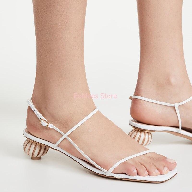 Ballon talons sandales femmes Sexy fête haut talons étranges chaussures femme été désherbage chaussures dames 2020