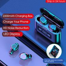 2020 Nieuwe Bluetooth Oortelefoon Draadloze Hoofdtelefoon Led Display Opladen Doos 2200Mah Tws Sport Waterdichte Oordopjes Headset Oordopjes cheap JIESEMWER Overigen Cn (Oorsprong) Echte Draadloze voor internet bar voor video game gemeenschappelijke hoofdtelefoon voor mobiele telefoon