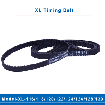 цена на XL timing belt model-116XL/118XL/120XL/122XL/124XL/126XL/128XL/130XL belt teeth pitch 5.08mm width 10/15mm for XL timing pulley