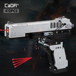 Desert Eagle Pistol Building Blocks MK23 Pistol UZI Submachine Gun Bricks Compatible Military Technic City Police SWAT Toys Kids