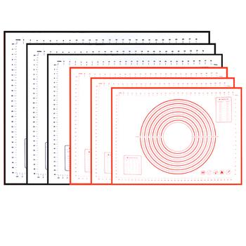 Bardzo duża mata silikonowa do pieczenia 32 #8222 x 24 #8221 -nieprzywierająca antypoślizgowa mata do ciastek z pomiarami Leeseph (czerwony i czarny) tanie i dobre opinie Maty do pieczenia i wkładki Zaopatrzony Ekologiczne AA062409 Silikonowe Narzędzia do pieczenia i cukiernicze Ce ue Lfgb