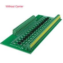 Placa de isolamento, 1.8v 3.3v 5v 12v 24v 16 canais optoacoplador isolamento placa de conversão de nível plc sinal de sinal