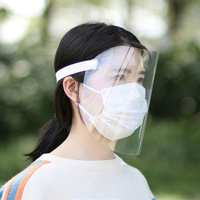 Adjustable Dustproof Mask Full Face Shield Clear Anti Saliva Spitting Face Safety Visor Mask for Men Women Face Eye Protection 1