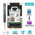 Mini PCI-E Wi-Fi 6 Adapter Wireless 2400Mbps Bluetooth 5,0 AX200 Wifi Netzwerk Karte AX200NGW 802,11 ax/ac 160 mhz 2,4G/5G Windows10