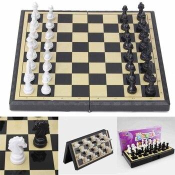 3 en 1 jeu d'échecs en plein air voyage échecs Backgammon pour développement intellectuel 1