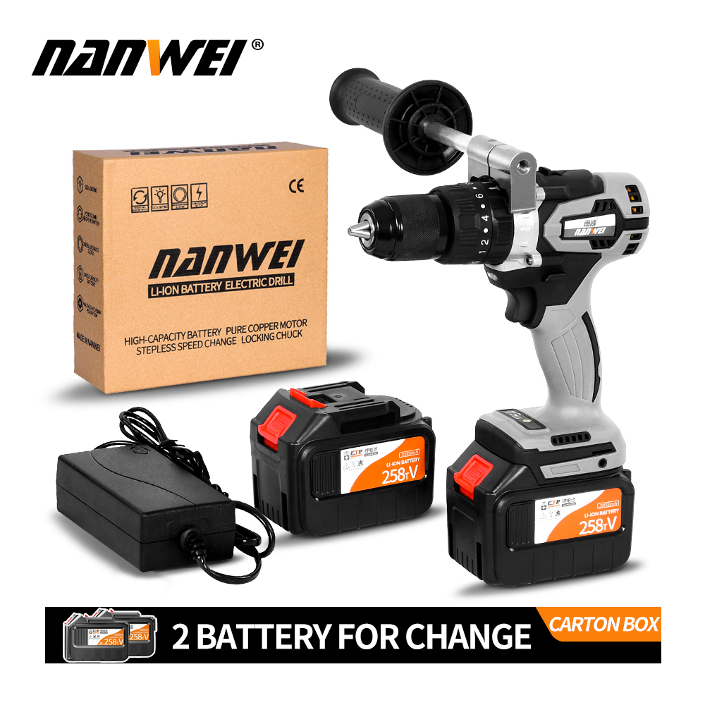 21V Strong Power Cordless Brushless Cordless Impact Drill Kit With Low Price Sale