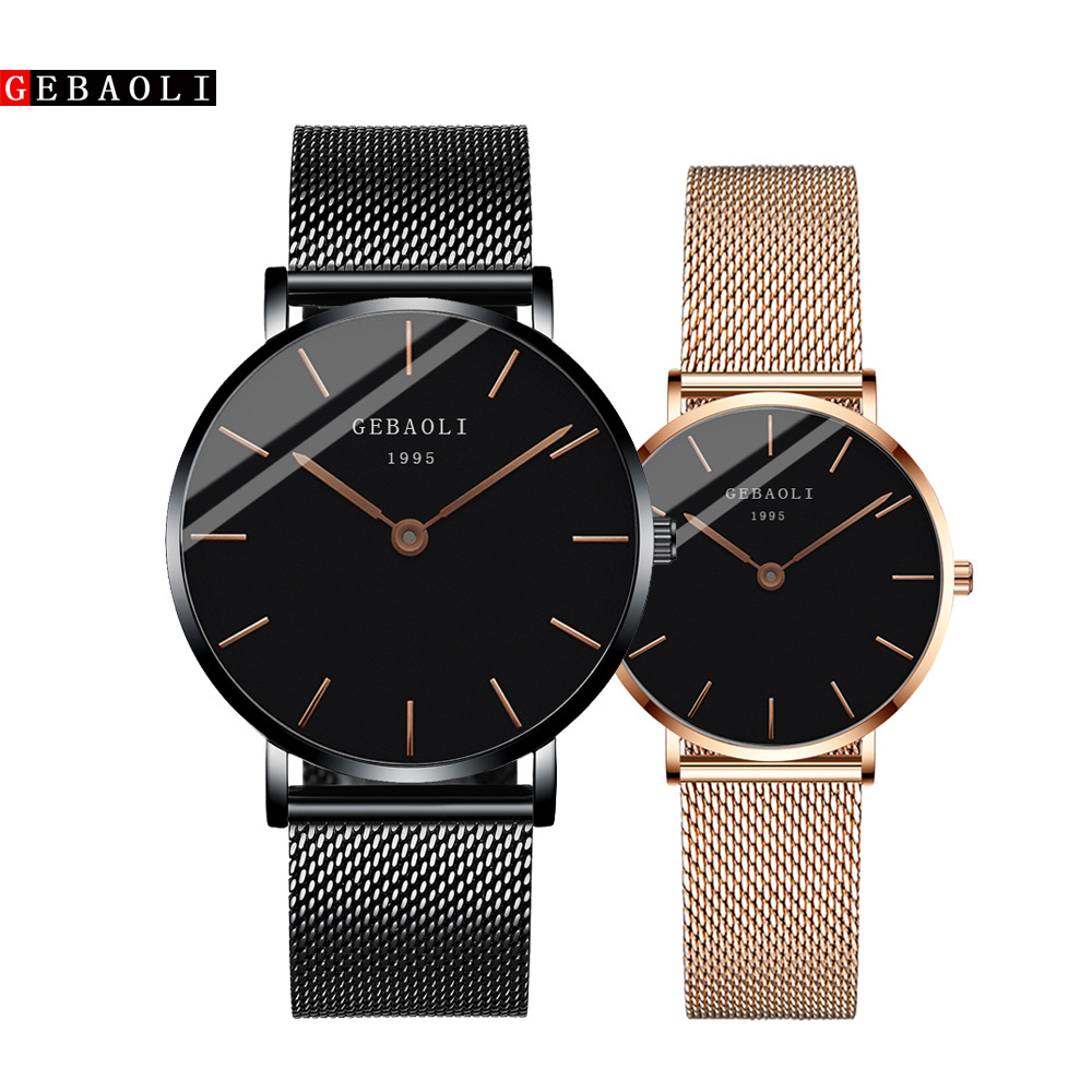 New Couple Watch Stainless Steel Luxury Men Women Quartz Watch Automatic Date Week Luminous Leather Lovers Wrist Watches FD3265
