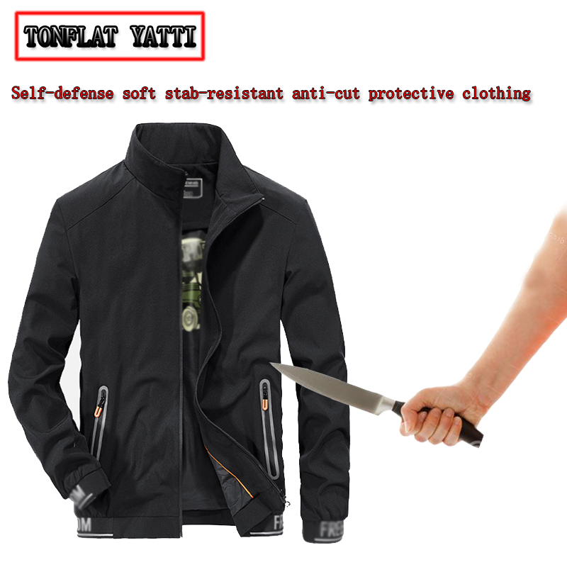 Military Tactical Stab-resistant Cut-proof Jacket Men Soft Self-defense Anti Coltello Safety Tatico Clothing  Anti Stab Jacket