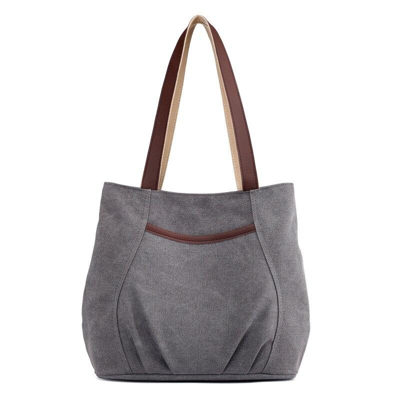 Ladies Canvas Handbag Casual Shoulder Bag Tote Bag Cotton Travel Tote Bag Purse