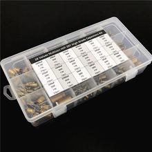18 valores nichicon fw/fg alta fidelidade diy alta qualidade capacitor de áudio assorted kit caixa variedade 6.3v ~ 100v, 10uf total 3300uf total 241 peças