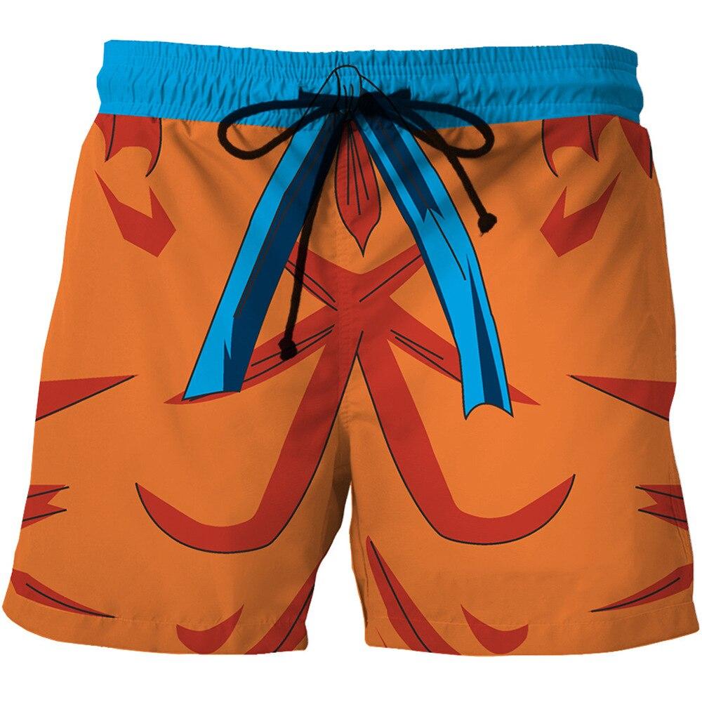 Digital Printing Men's Quick Dry Beach Shorts Cartoon Cartoon Printing Side Pocket Casual Shorts