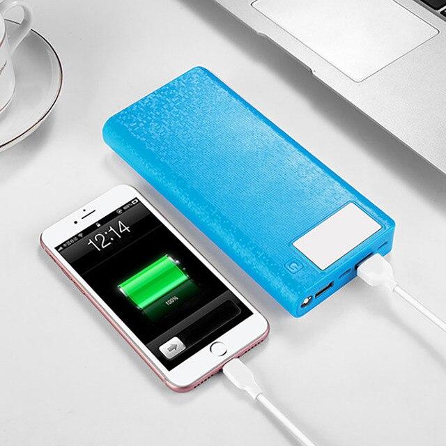 QC 3.0 Power Bank opakowanie na baterie obudowa Shell 2 USB 8*18650 DIY ładowarka Case type-c kabel micro USB telefon Powerbank akcesoria