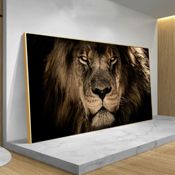 African Large Lion leopard Animals Face Canvas Paintings  Wall Art Posters And Prints Animals Lions Art Pictures For Living Room
