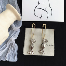 Korean style women safety Pin candy pendant Long Earrings Ear Threader Fashion Jewelry Exquisite