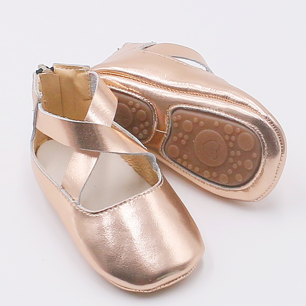 Princess Girls Ballet Flats Baby Shoes Hard Bottom Genuine Leather Solid Crib Leopard Print Infant Toddler Ballet Mary Jane Shoe