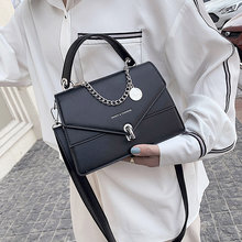 Mädchen Kleine Quadratische Tasche 2021 Sommer Neue Ketten Handtasche Frauen Casual Wilden Schulter Tasche Lock Flut Tasche Diagonal Weiblichen Beutel schwarz