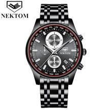 2021 luxus Mode herren Uhr Wasserdicht Edelstahl mit Datum Woche Quarz Uhren männer Luxury Business Kleid Uhr