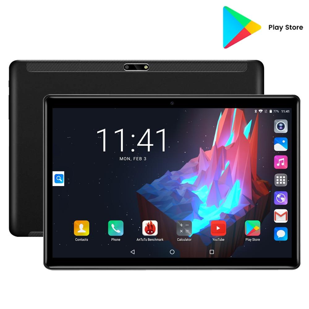 Black 32GB ROM Gaming Tablet Quad Core 10 Inch 5MP 1280x800 Full Screen Dual 2.5D Glass WIFI 3G Phone Unlocked Pad