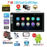 7 inch Universal Car Multimedia Player BT FM Mirrorlink Stereo Audio A5 2 Din Android 8.1 Car Auto Radio GPS Navigation