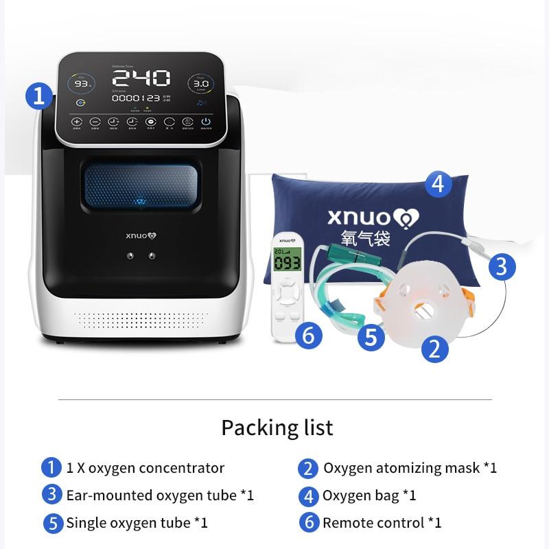 Xnuo 1-9L концентратор кислорода генератор использовать в домашних условиях для вентилятора сна кислородный концентратор медицинское оборудо...