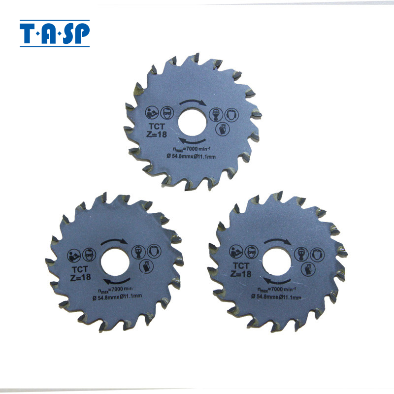 TASP TCT Mini Circular Saw Blade 54.8x11.1mm 3PC For Woodworking