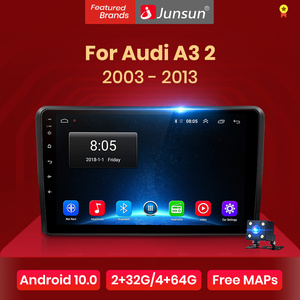 Junsun V1 Android 10.0 DSP CarPlay Car Radio Multimedia Video Player Auto Stereo GPS For Audi A3 8P 2003 - 2013 2 din dvd