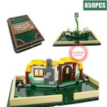 Магазин, книга-раскладушка, подходит для городской модели девочек, магазин, книга, подходит для Legoings Technic, строительные блоки, кирпичи, 21315, Diy игрушки, детский подарок