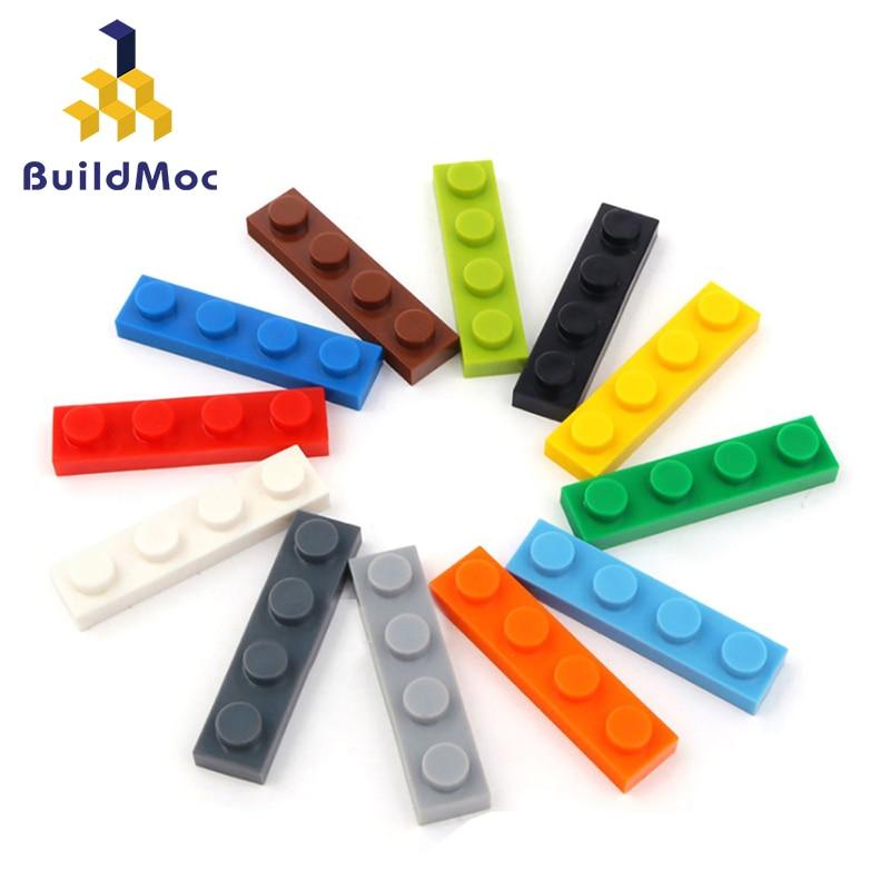 100pcs DIY Building Blocks Thin Figures Bricks 1x4 Dots Educational Creative Size Compatible With Lego Plastic Toys For Children